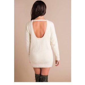 024973d503 Dee Elly Dresses - Cream colored sweater dress